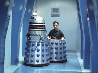 John Scott Martin in Dalek casing