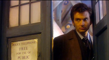 David Tennant as the tenth Doctor to appear on Sarah Jane Adventures